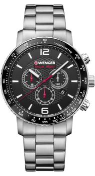 Мужские часы Wenger ROADSTER Black Night Chrono W01.1843.103