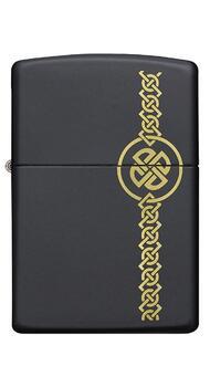 Зажигалка Zippo Celtic Lazer Engraved Black Matte 49518