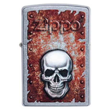 Зажигалка ZIPPO 207 Rusted Skull Design 29870