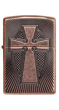 Зажигалка ZIPPO 29736 Deep Carve Cross Design Armor 49158