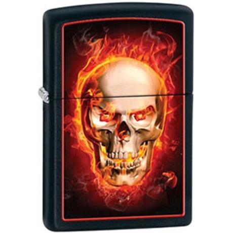 Зажигалка Zippo 218 BURNING SKULL 28307